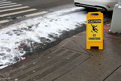 Caution Icy Conditions