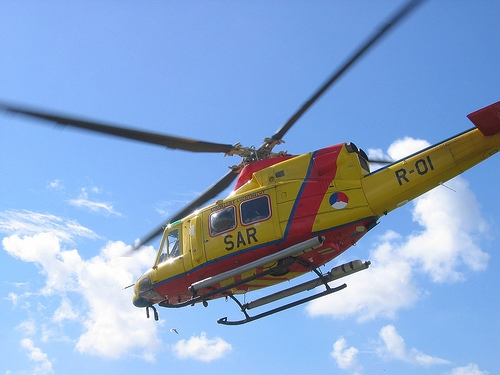 Rescue helicopter on Vlieland