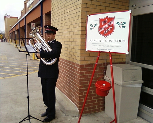 salvation army playing euphonium