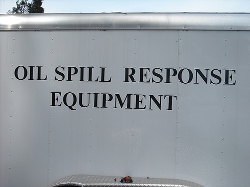 Oil Spill sign