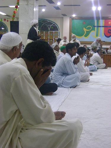 Prayers after Qawali singing, Lahore