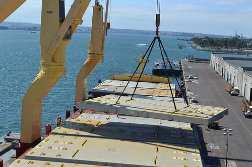 LNG containership components offloaded at Tenth Ave. Marine Terminal