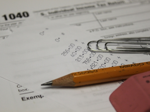 Filing Taxes - 1040 Form