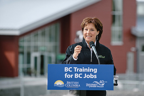 Premier Christy Clark opens Agriculture Centre of Excellence