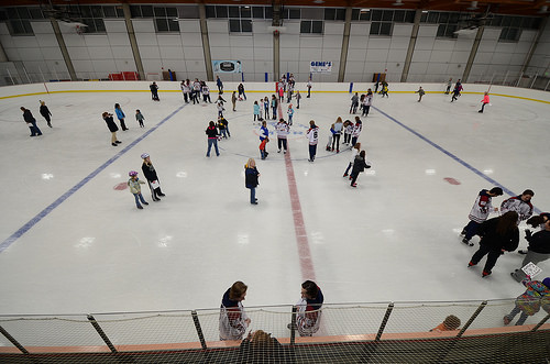 Fairbanks Ice Dogs spend time on the Fort Wainwright ice