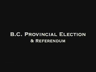 Support The Vote - BC Elections May 12th, 2009