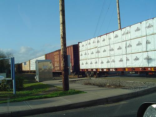 Load of Lumber on Rail Cars