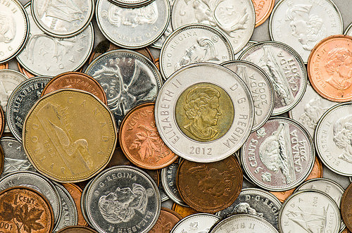 Stock Photography - Canadian Coins