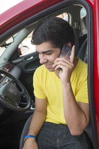 Teen talking on phone