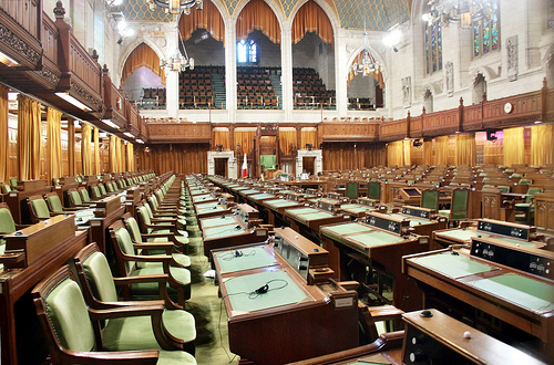 Ottawa - Parliament House of Commons - Government side