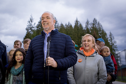 Horgan will fund school playgrounds and classroom essentials cut by Christy Clark