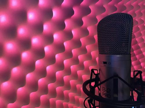 Recording Studio - lights inside the acoustic foam