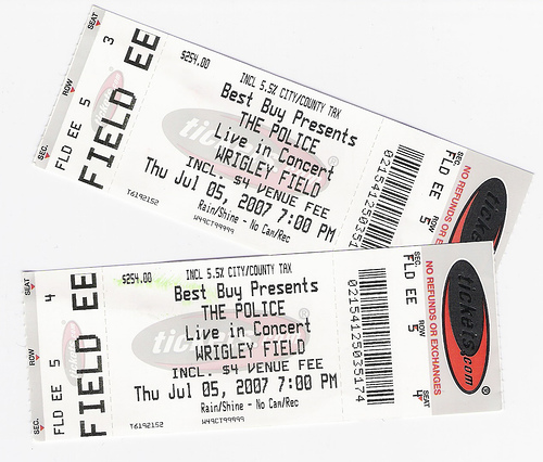 Police Concert Tickets