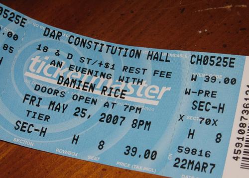 Damien Rice tickets