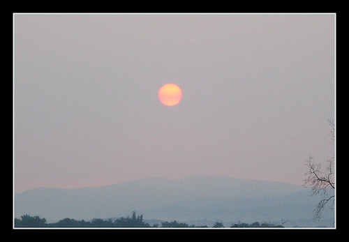 1501 Hazy Smoke From a North Carolina Forest Fire Affects Sunrise